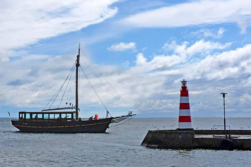 Sailing boat at Nida harbor in Lithuania