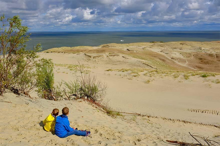 Sand dunes at Parnidis Dune in the Curonian Spit