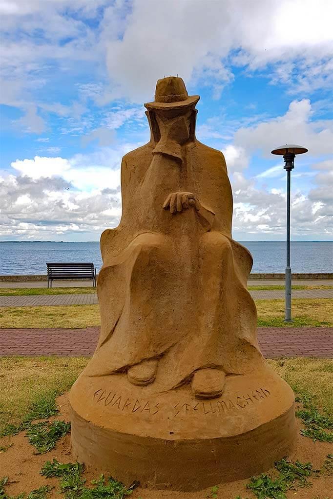 Sand sculpture in Juodkrante