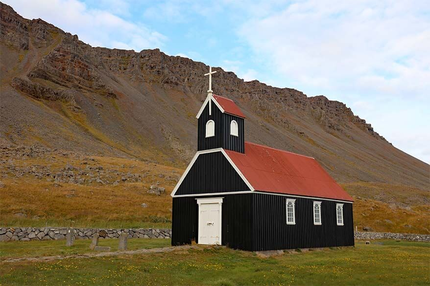 Saurbaejarkirkja church in the Westfjords