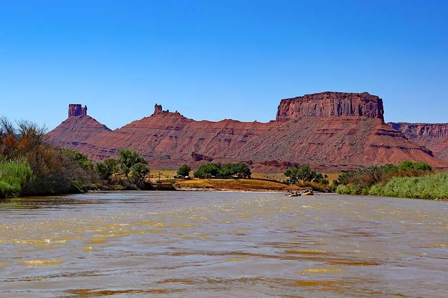 Scenery of Colorado River near Moab in Utah