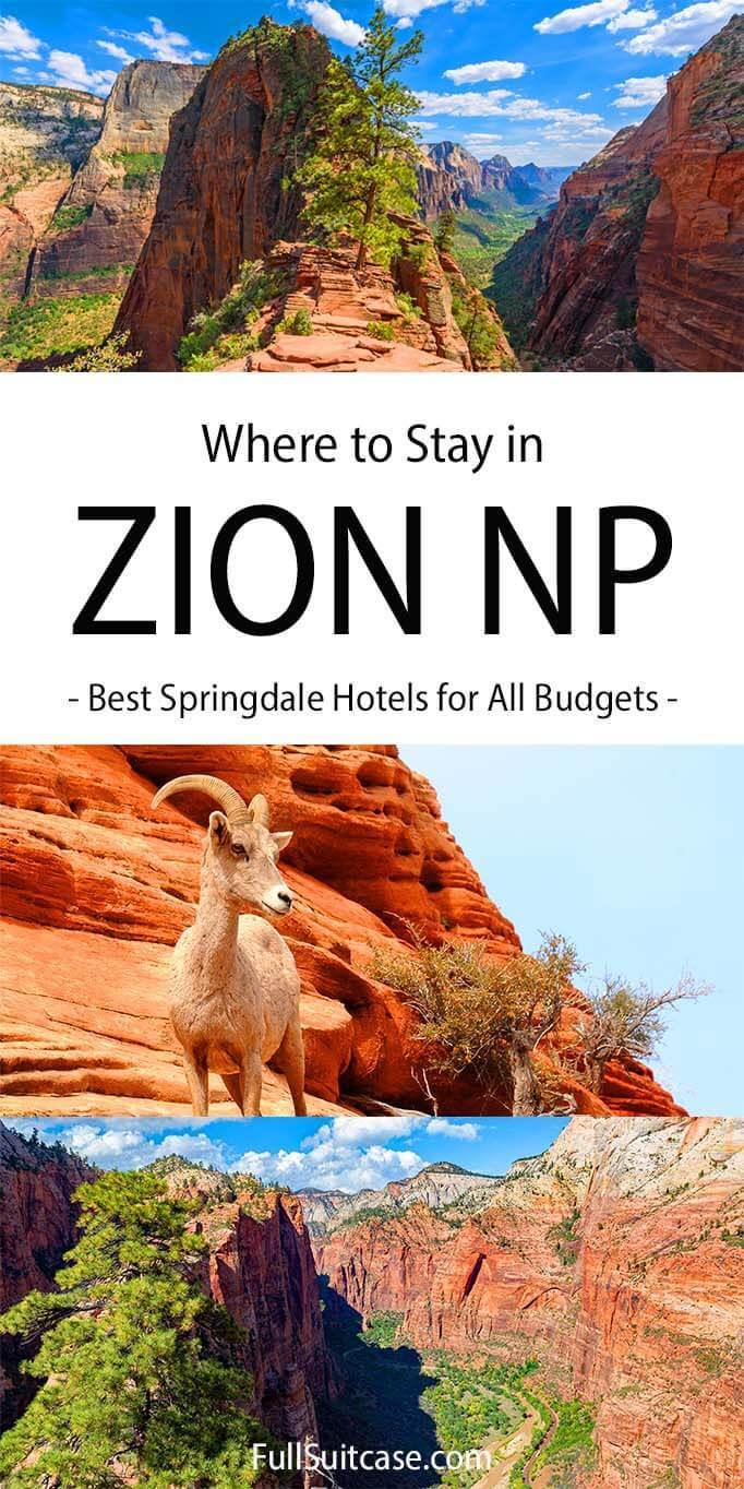 Springdale hotel and accommodation guide - where to stay in Zion NP