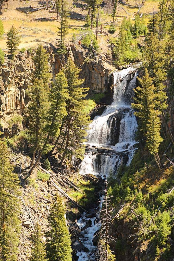 Undine Falls in Yellowstone