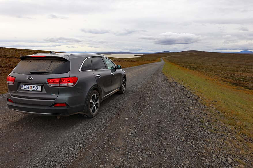 4WD driving the F35 road in Iceland