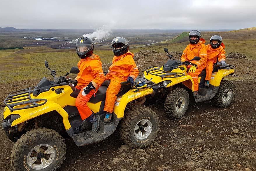 ATV tour in Reykjanes Geopark in Iceland