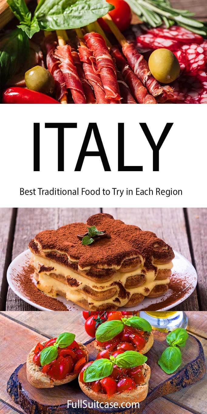 Authentic Italian food to try in each region