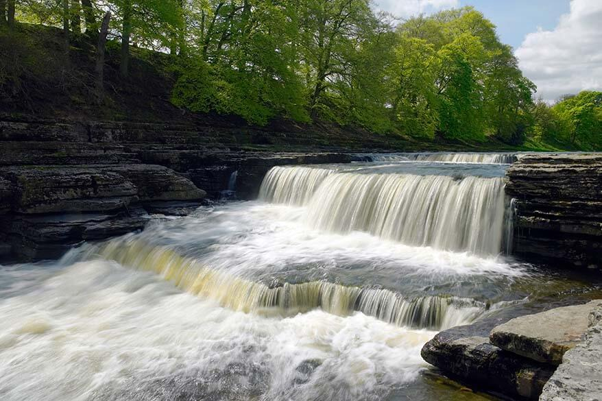 Aysgarth Falls in Wensleydale UK