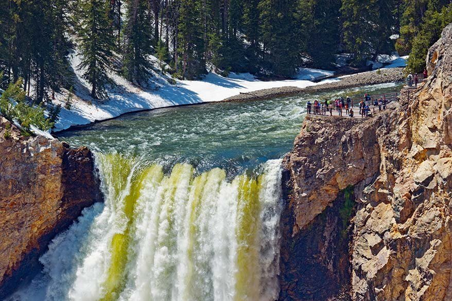 Brink of the Upper Falls at the Grand Canyon of the Yellowstone