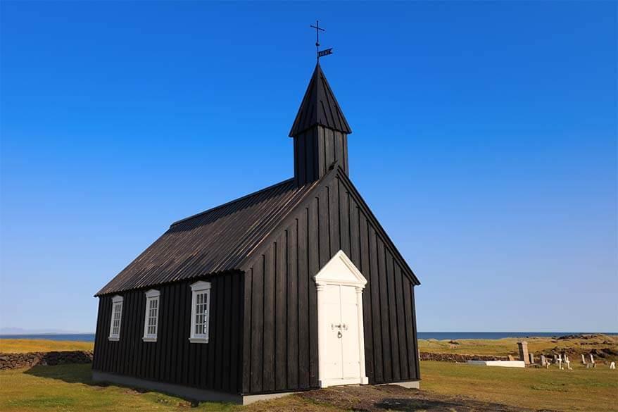 Budakirkja on Snaefellsnes Peninsula in Iceland