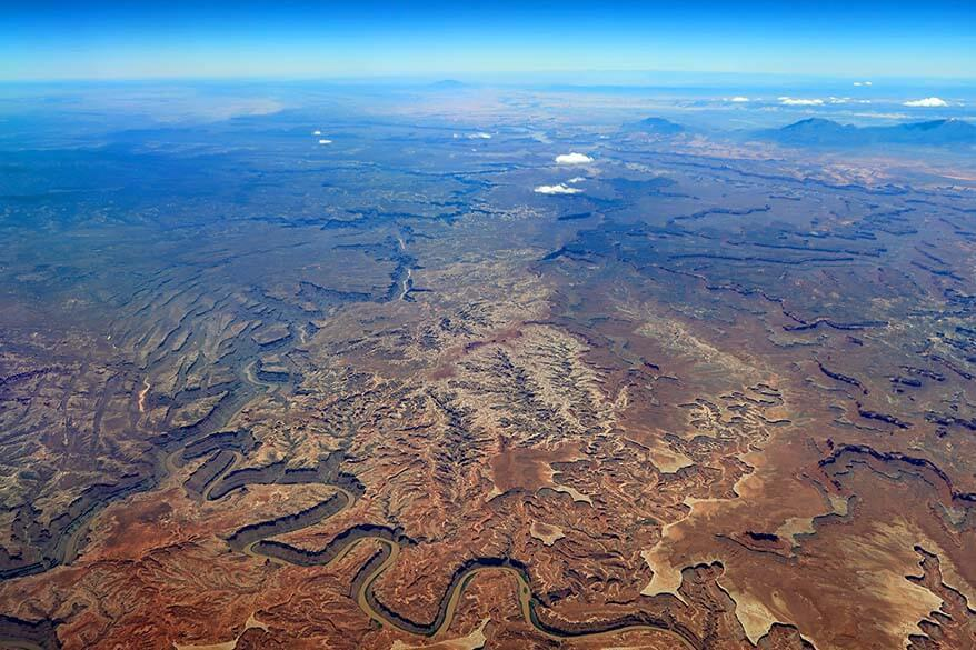 Canyonlands National Park aerial view