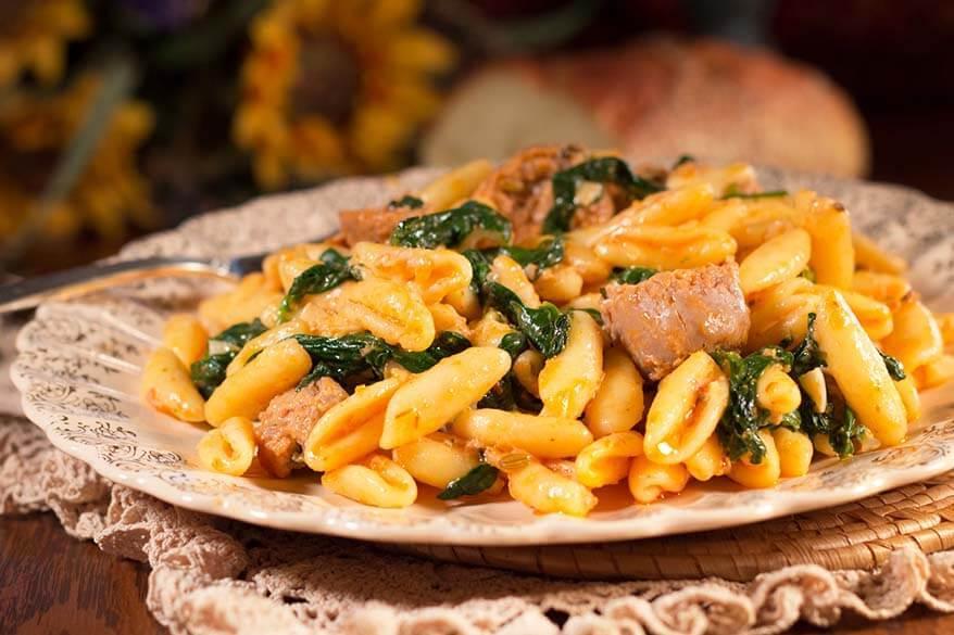 Cavatelli pasta - Molise region in Italy