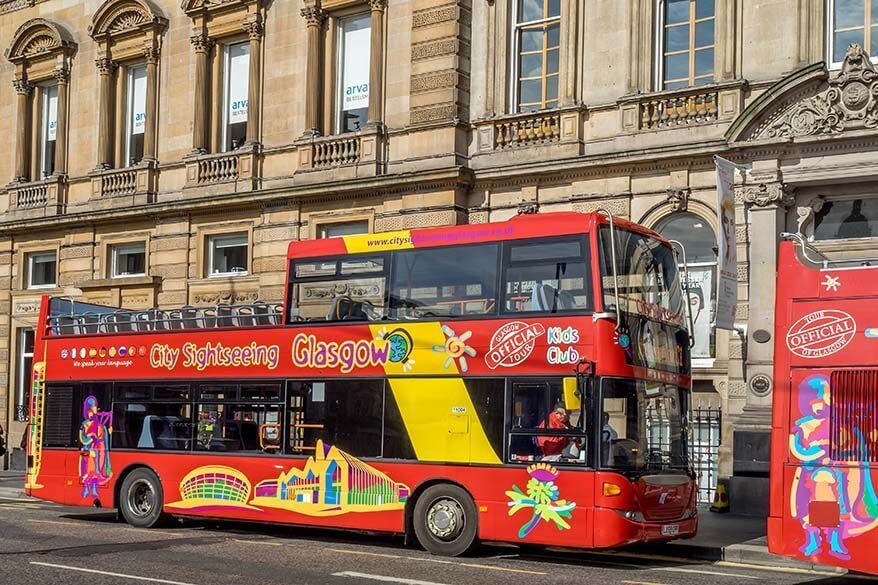 City sightseeing bus - best way to see Glasgow in one day