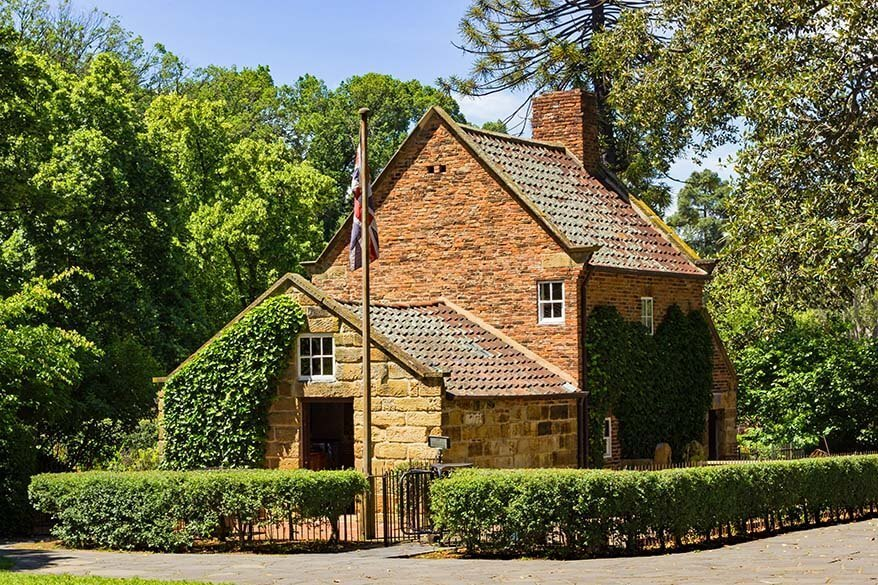Cook's Cottage at Fitzroy Gardens in Melbourne