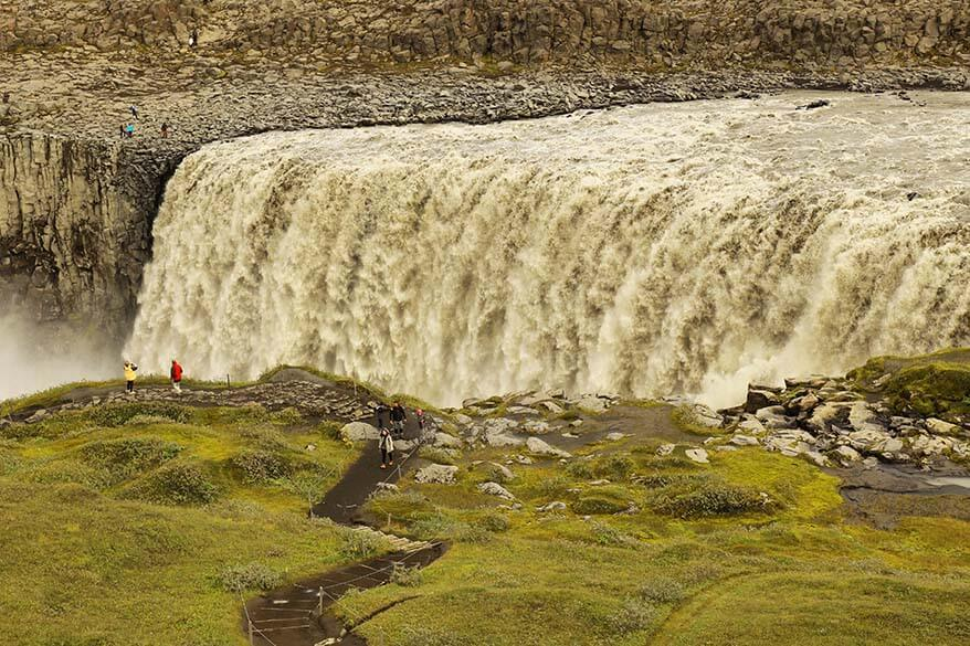 Dettifoss is not to be missed when visiting Myvatn