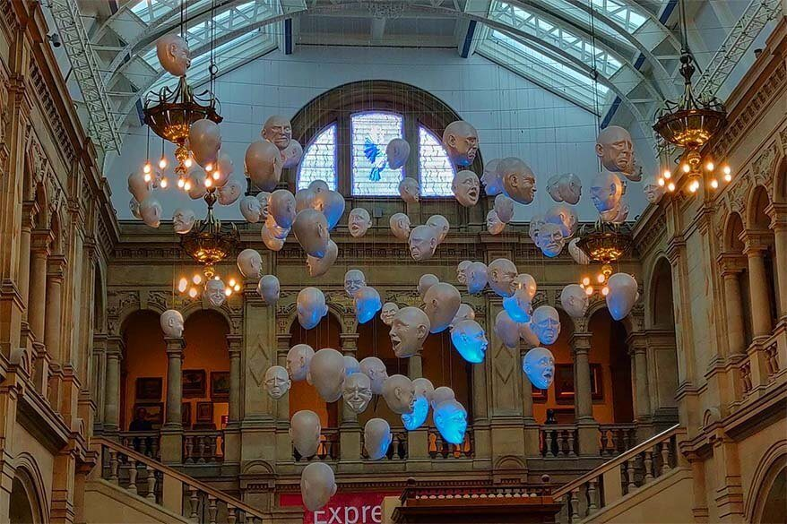 Floating Heads at Glasgow's Kelvingrove Art Gallery and Museum