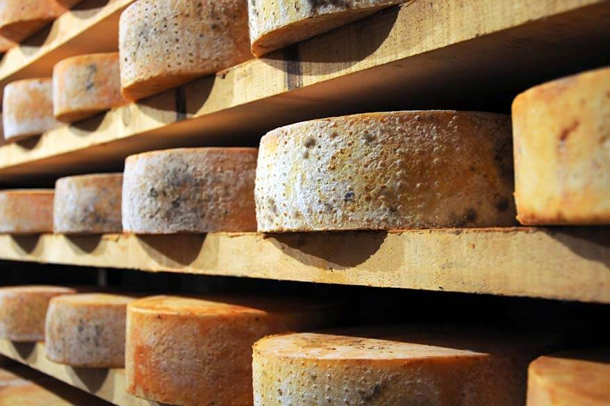 Fontina cheese in Aosta valley
