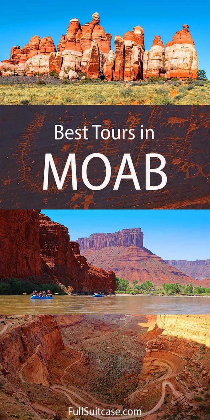 Fun day trips, excursions, and organized tours in Moab Utah