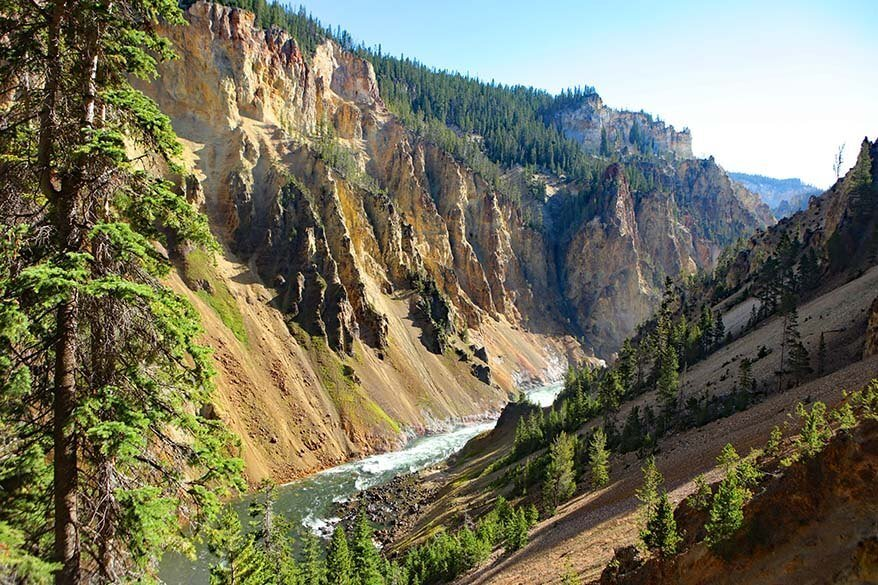 Grand Canyon of the Yellowstone as seen from Uncle Tom's Point Trail