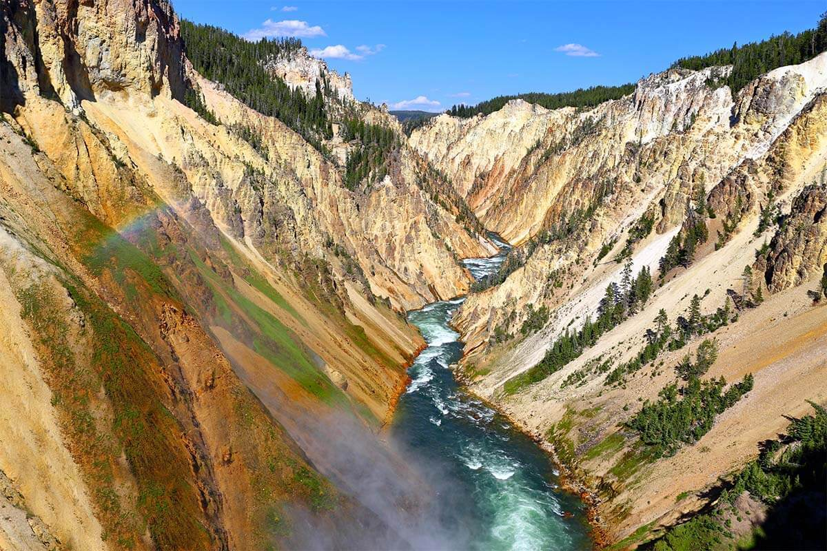 Grand Canyon of the Yellowstone: Things to Do & Map