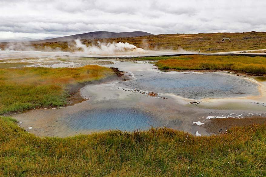 Hveravellir geothermal area in Icelandic highlands