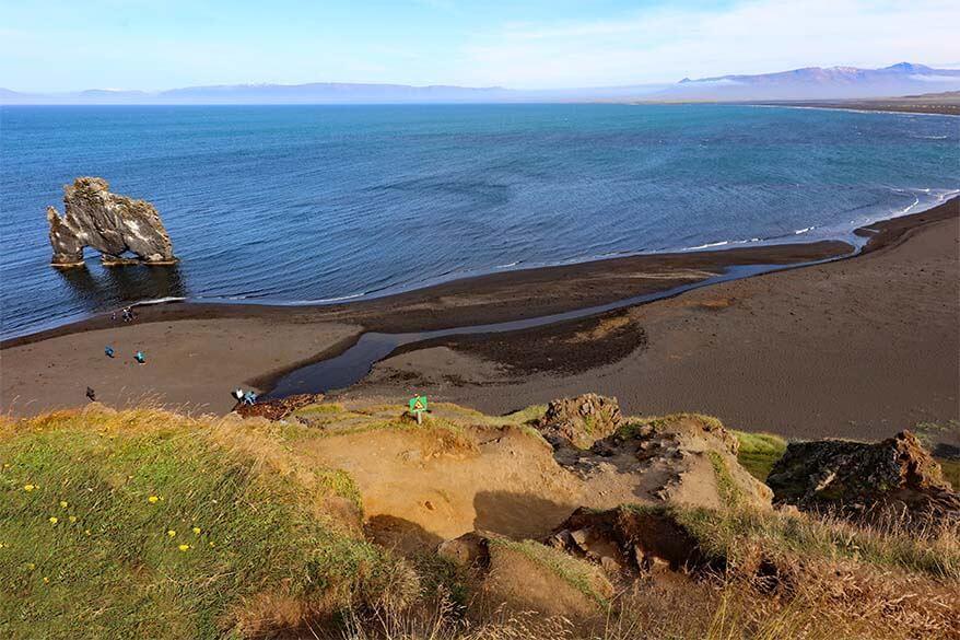 Hvitserkur beach in Northwest Iceland