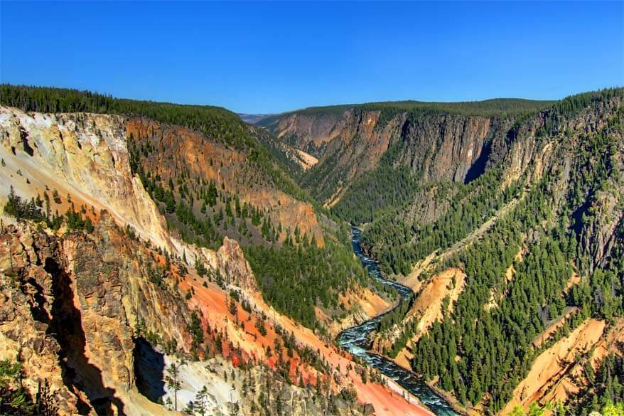 Inspiration Point at the Yellowstone Canyon