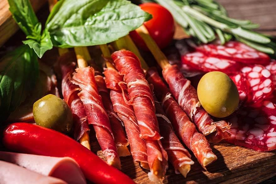 Italian charcuterie meat