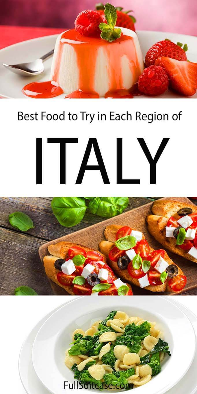 Italian food regions and best traditional dishes to try in each region
