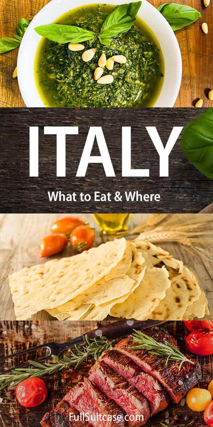 Italy food guide by region