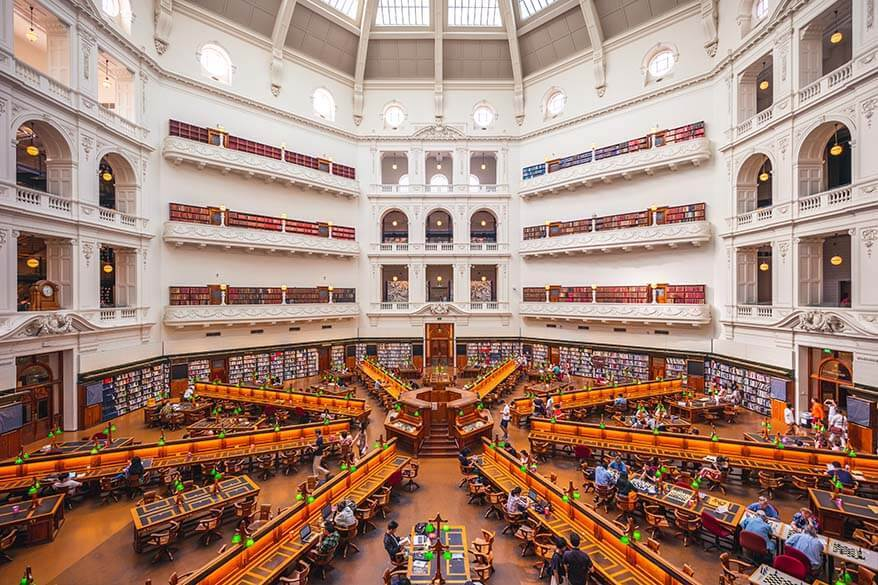 La Trobe Reading Room at the State Library of Victoria in Melbourne