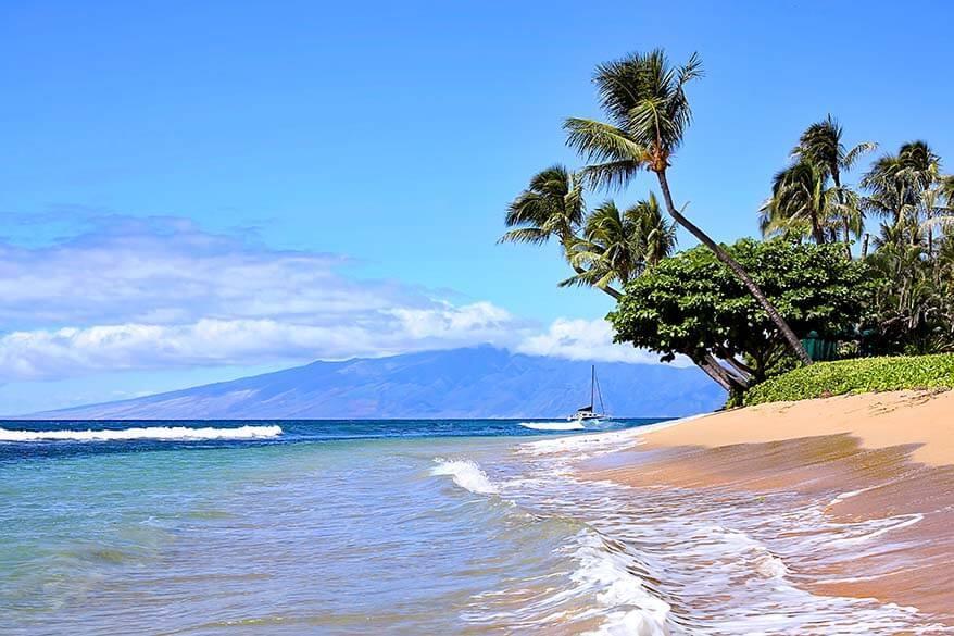 Lahaina beach in Maui