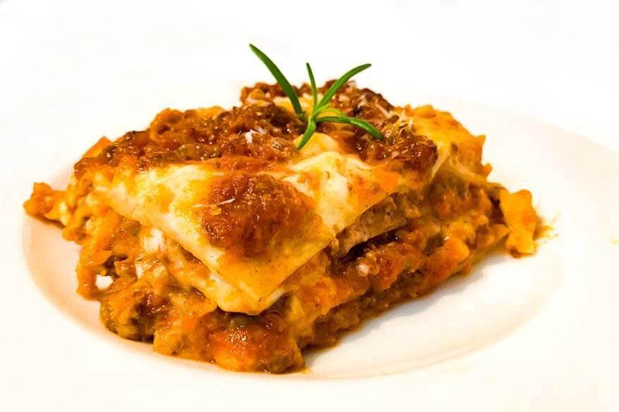 Lasagna Bolognese - specialty of the Emilia Romagna region