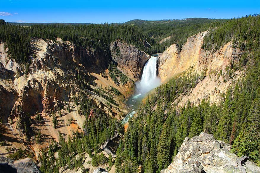 Lookout Point - one of the best viewpoints of Yellowstone Canyon