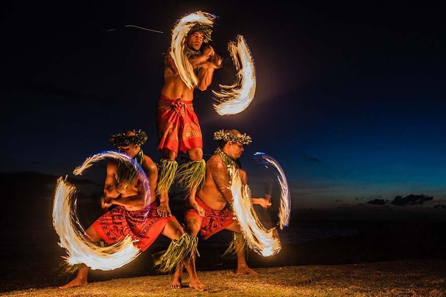 Luau fire dance in Maui Hawaii