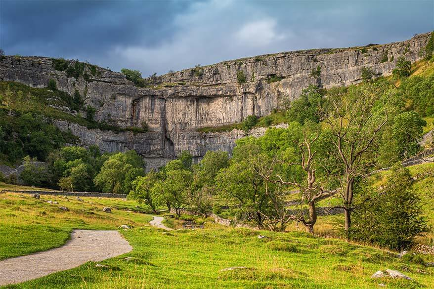 Malham Cove in Yorkshire