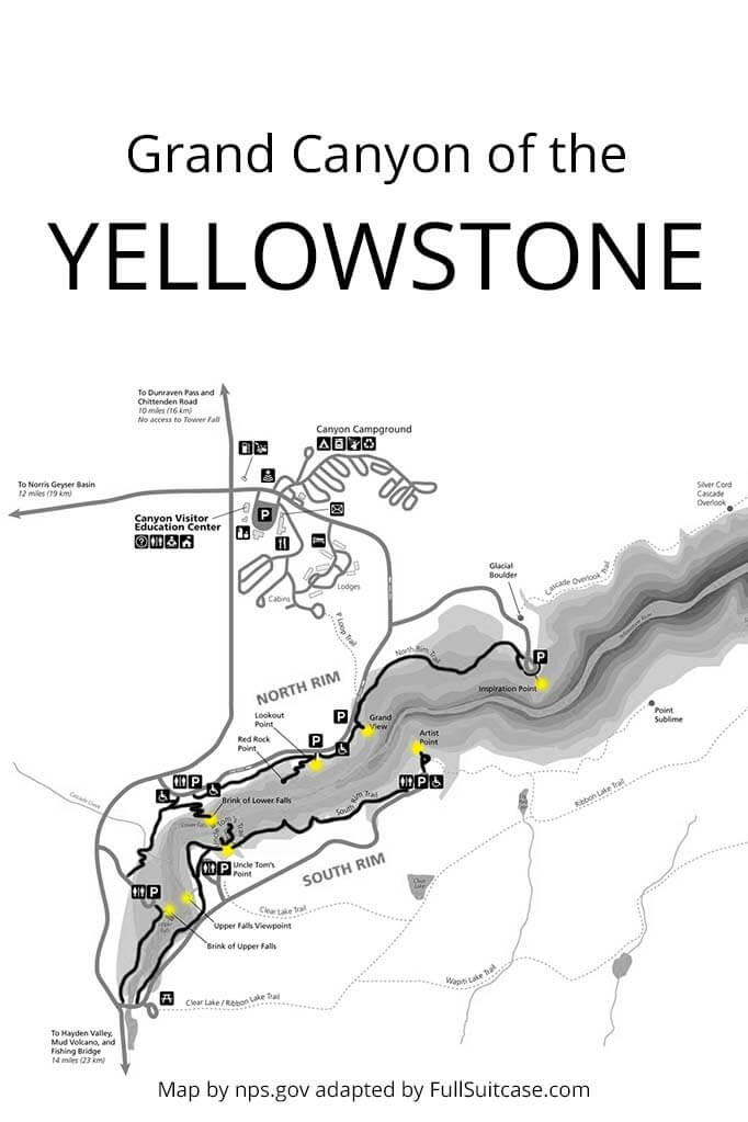 Map of the Grand Canyon of the Yellowstone