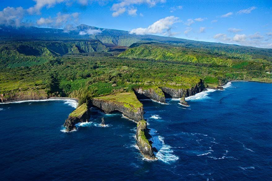Maui aerial view from a helicopter tour