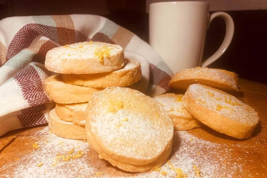 Polenta biscuits - specialty of Piedmont region