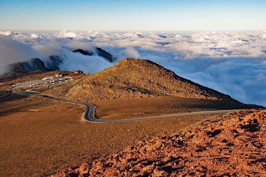Road at Haleakala NP in Maui