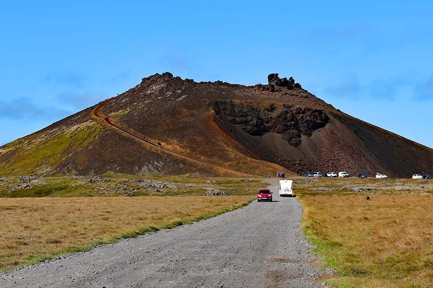 Saxholar Crater in West Iceland