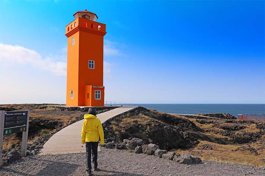 Svortuloft Lighthouse in Iceland