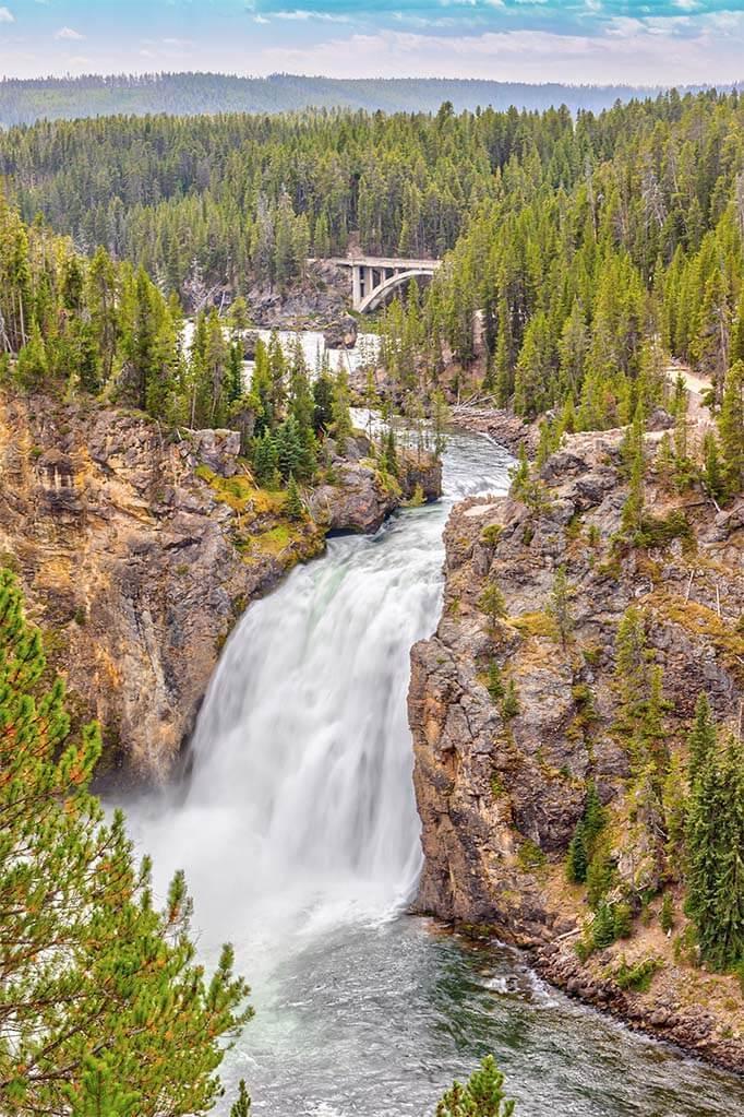 Upper Falls in Yellowstone