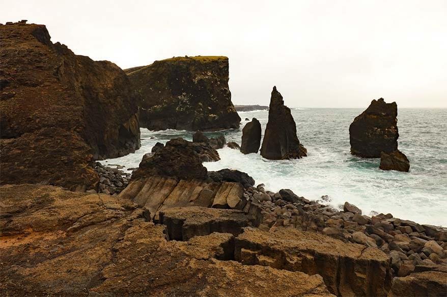 Valahnukamol Cliffs on Reykjanes Peninsula