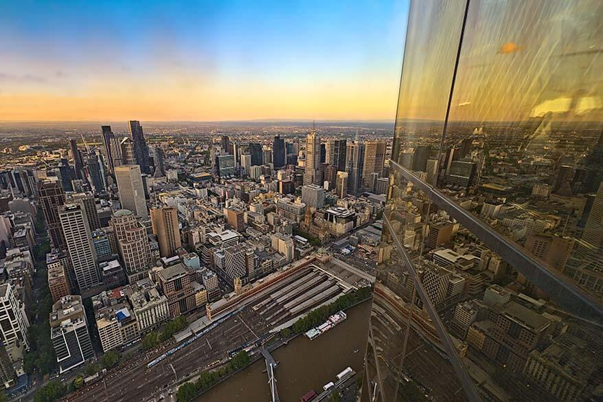 View from Eureka Skydeck in Melbourne
