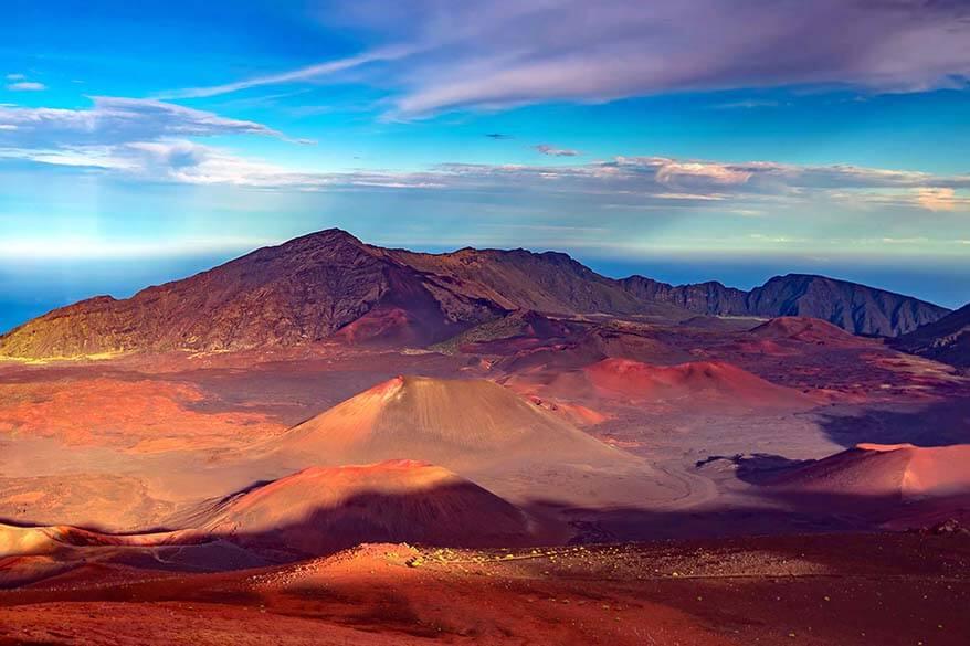 View from Mt Haleakala in Maui