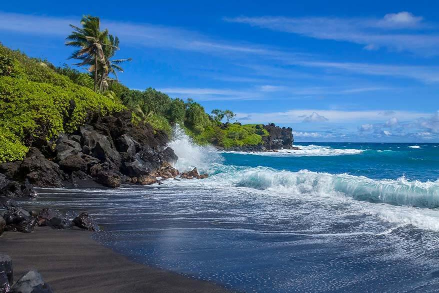 Waianapanapa State Park along Road to Hana in Maui