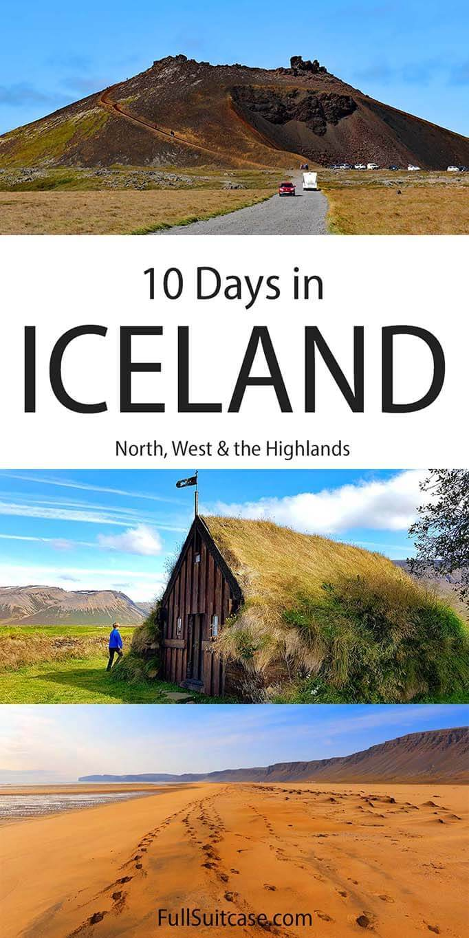 West and North Iceland itinerary for 10 days