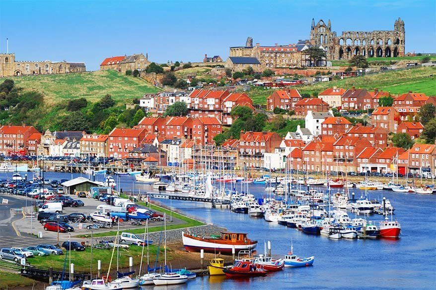 Whitby town in Yorkshire