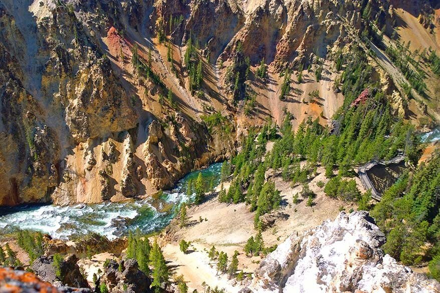 Yellowstone Canyon as seen from the Lookout Point