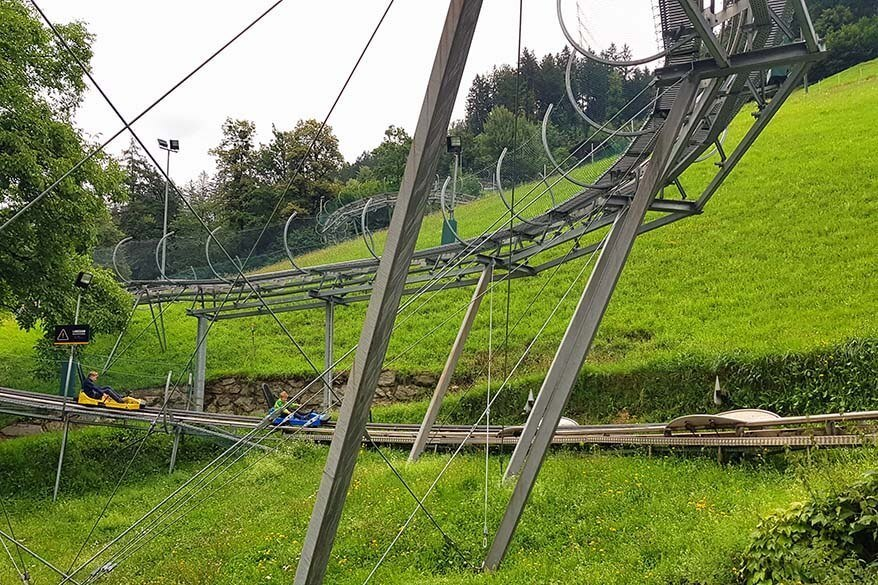 Alpine toboggan is just one of the many things to do in Zillertal in summer